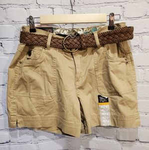 NWT 151 Tan Belted Shorts
